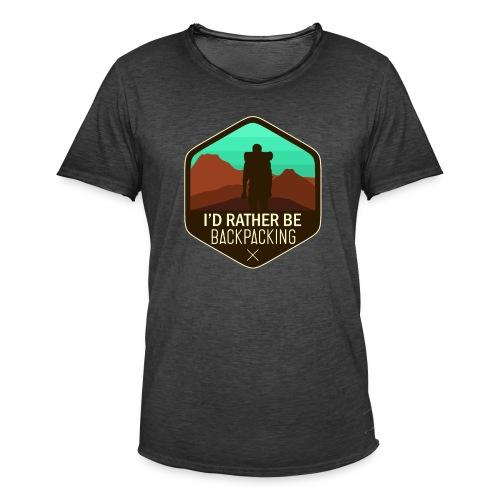 I'd Rather Be Backpacking - Männer Vintage T-Shirt