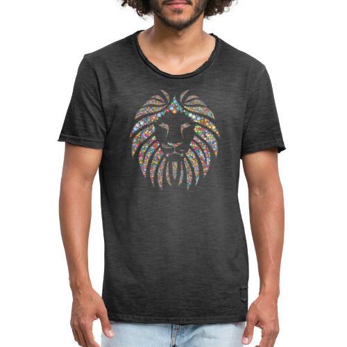 lion design - T-shirt vintage Homme