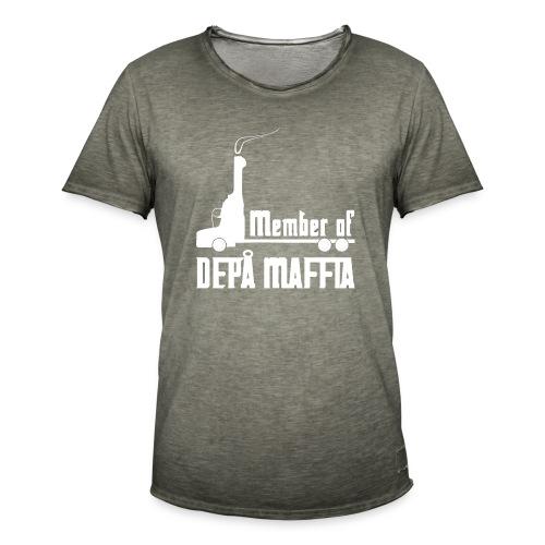 Depå Maffia vitt tryck - Vintage-T-shirt herr