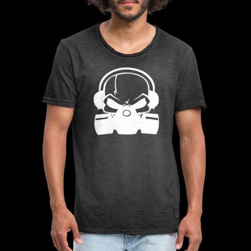 RSN Logo White achterkant - Mannen Vintage T-shirt