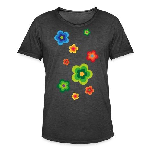 Limited edition 01 Flowerpower - Männer Vintage T-Shirt