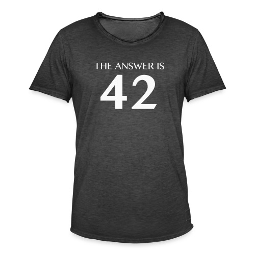 The Answer is 42 White - Men's Vintage T-Shirt