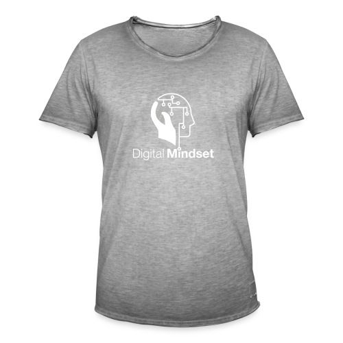 Digital Mindset Logo Weiß - Männer Vintage T-Shirt