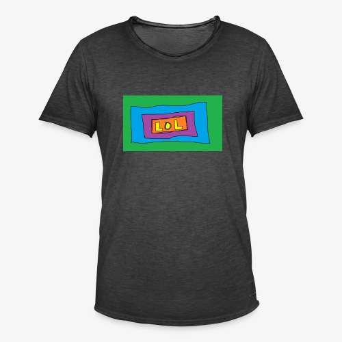 LOL is a word that i say all day - Vintage-T-shirt herr