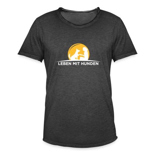 leben mit huden weiss - Männer Vintage T-Shirt