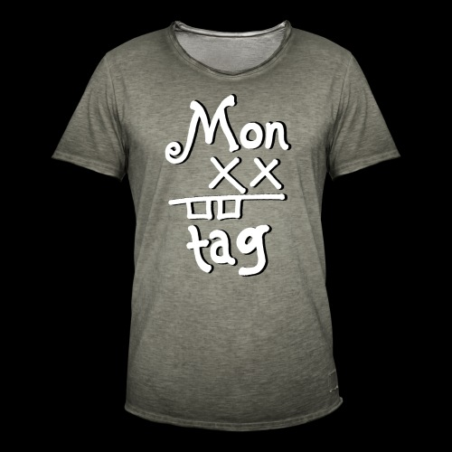 Montag x_x - Männer Vintage T-Shirt