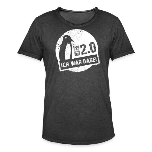 Logo 1 weiss - Männer Vintage T-Shirt