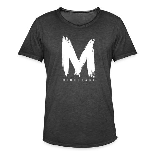 Logo Weiß - Männer Vintage T-Shirt