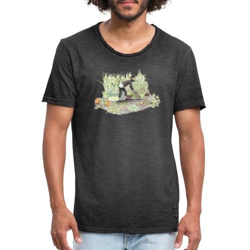 Auf dem Acker Schmal – Handgezeichnet - Männer Vintage T-Shirt