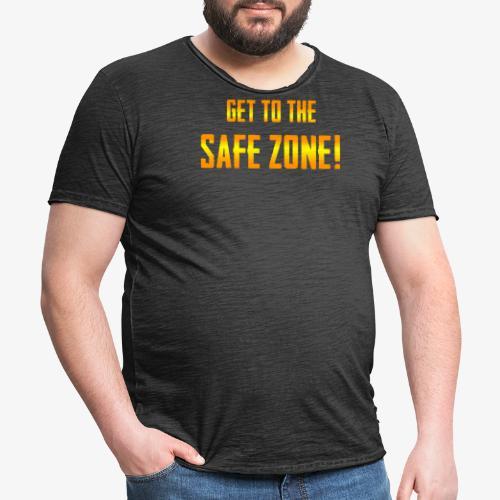 PUBG Get to the safe zone! - Männer Vintage T-Shirt