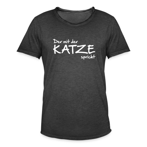 Vorschau: Der mit der Katze spricht - Männer Vintage T-Shirt
