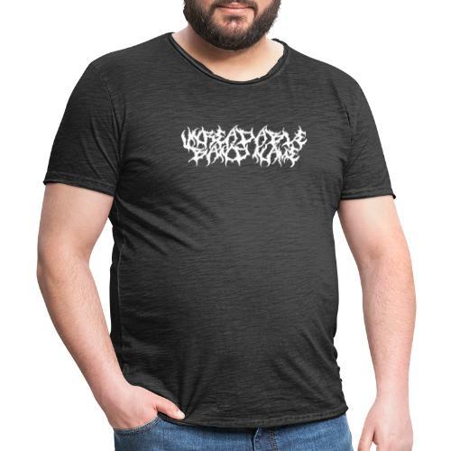 UNREADABLE BAND NAME - Men's Vintage T-Shirt