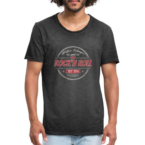 Rock´n Roll, Weiber Schnaps und Bier - Männer Vintage T-Shirt