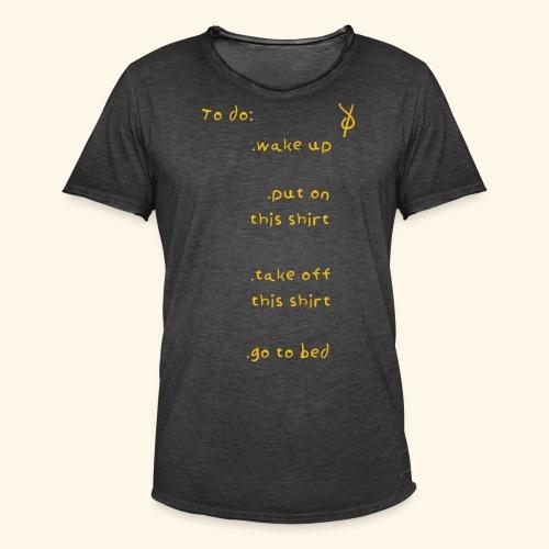 shieke to do-list - Men's Vintage T-Shirt