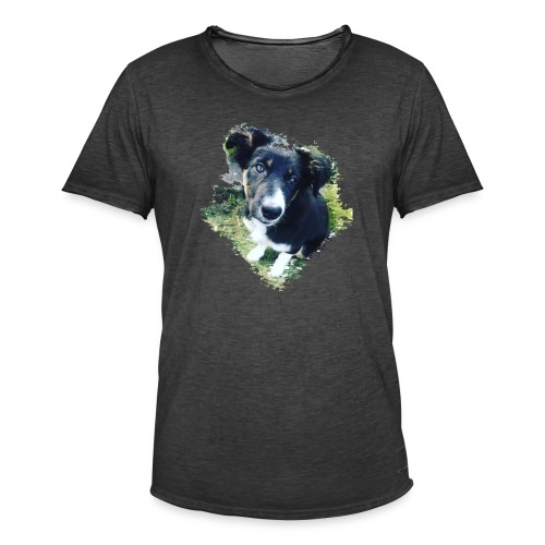 colliegermanshepherdpup - Men's Vintage T-Shirt