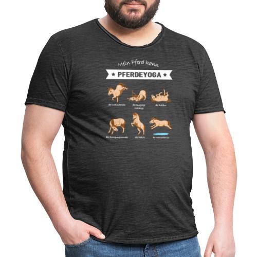 Pferdeyoga - Männer Vintage T-Shirt