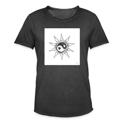 sole yin yang - Maglietta vintage da uomo