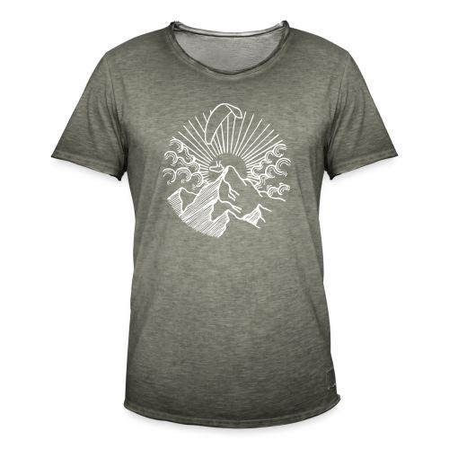 Paraglider Mountain Sunrise - Männer Vintage T-Shirt