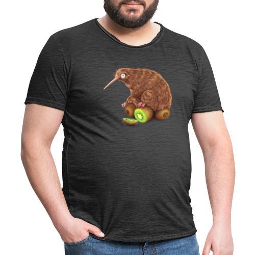 Kiwi auf Kiwis - Männer Vintage T-Shirt