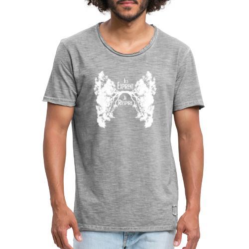 Oxygène blanc - T-shirt vintage Homme