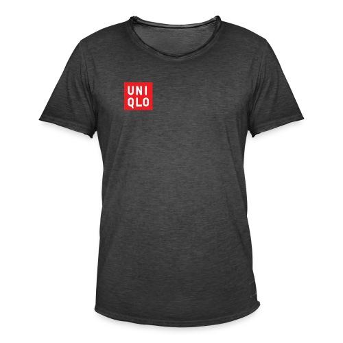 UNIQLO logo - Mannen Vintage T-shirt