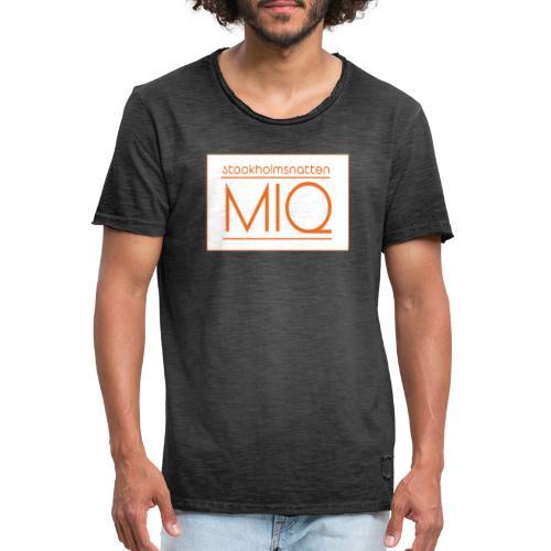 MIQ - STOCKHOLMSNATTEN Singel Cover Logotype - Vintage-T-shirt herr