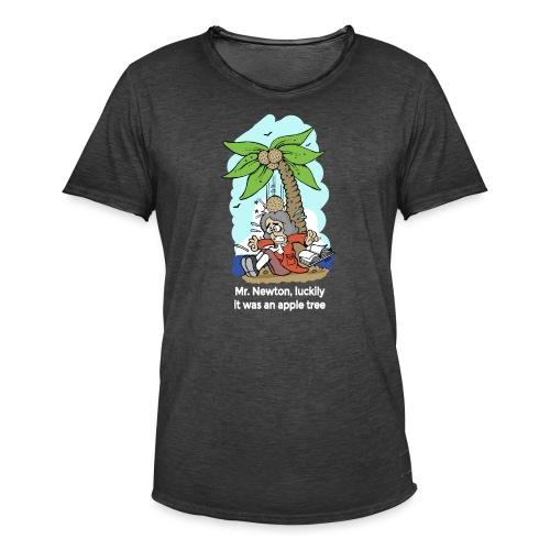 Mr. Newton, Luckily it was an apple tree - Camiseta vintage hombre