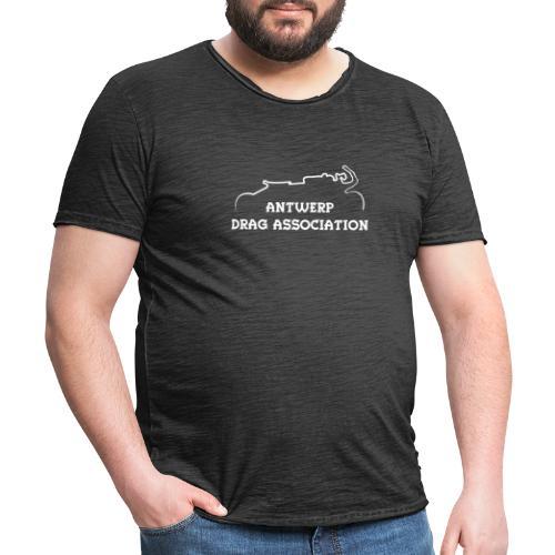 ADA DRAG Logo Klein Wit - Mannen Vintage T-shirt