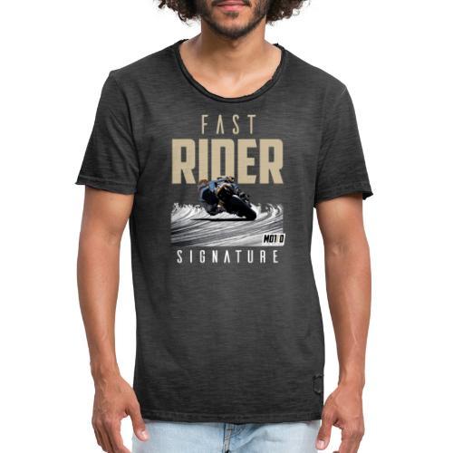 Fast Rider Signature - T-shirt vintage Homme