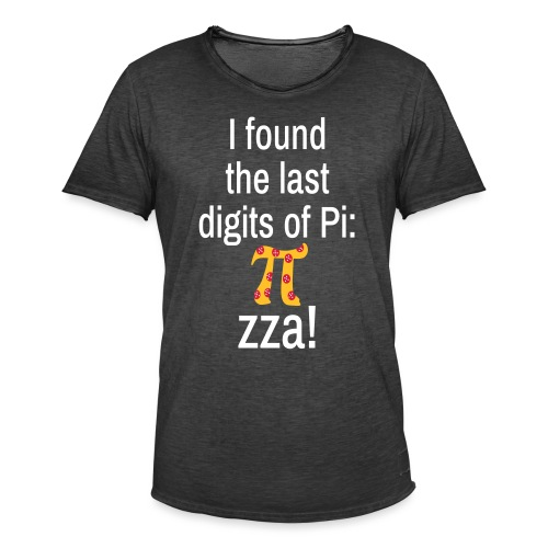 Last Digits Zahl Pi Pizza Mathe Nerd - Männer Vintage T-Shirt