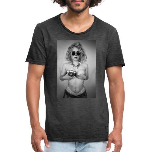 Wild Camera Chick - Männer Vintage T-Shirt