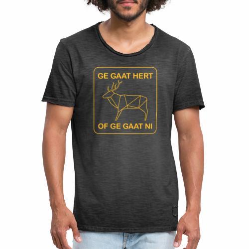 Ga Hert - Mannen Vintage T-shirt