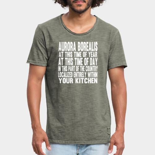 Aurora Borealis White - Men's Vintage T-Shirt