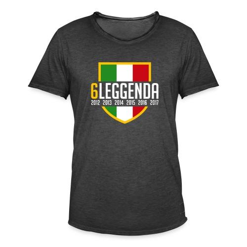 6LEGGENDA BLACK - Maglietta vintage da uomo