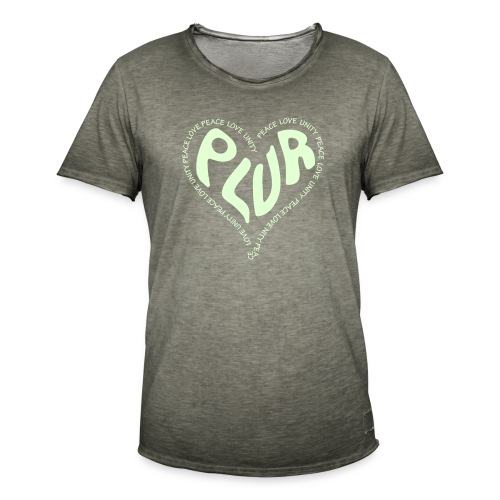 PLUR Peace Love Unity & Respect ravers mantra in a - Men's Vintage T-Shirt