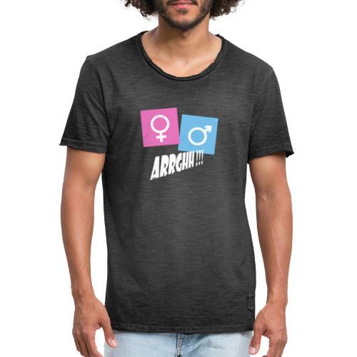Kønsstereotyper argh - Herre vintage T-shirt