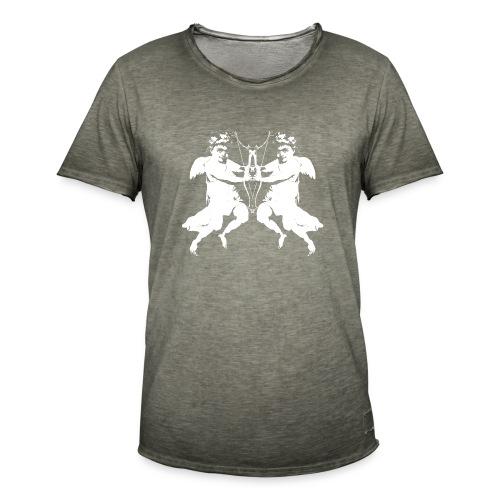 angelo cherubino geometrico stencil - Maglietta vintage da uomo