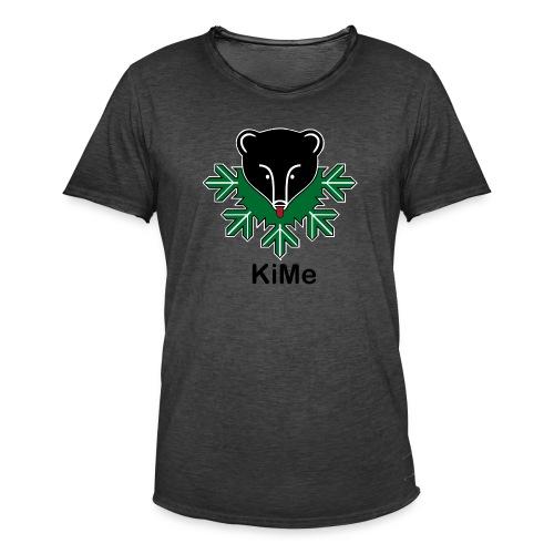 KiMe karhu mustalla tekstilla - Miesten vintage t-paita