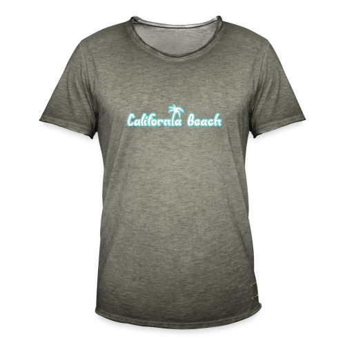 California Beach - Vintage-T-shirt herr