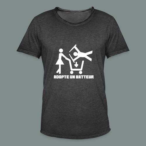 Adopte un batteur - idee cadeau batterie - T-shirt vintage Homme
