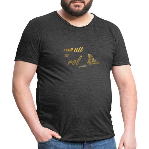 Stap uit je Rol Vlinder Goud - Mannen Vintage T-shirt