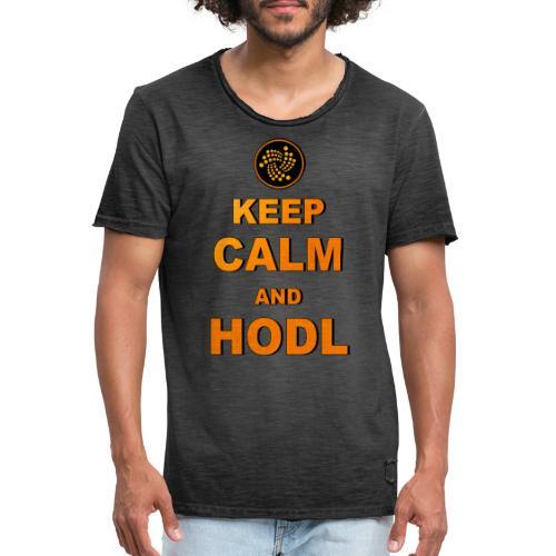 IOTA -keep calm and HODL - Männer Vintage T-Shirt