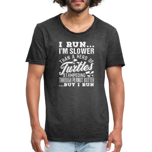 Run Turtles As Fast As We Can - Männer Vintage T-Shirt
