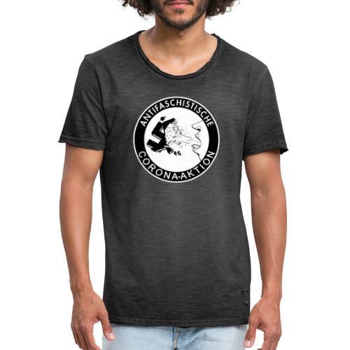 Antifaschistische Corona-Aktion - Männer Vintage T-Shirt