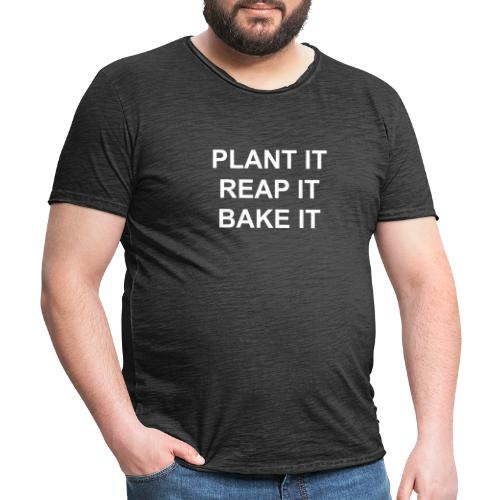 plantitreapitbakeit_white - Männer Vintage T-Shirt