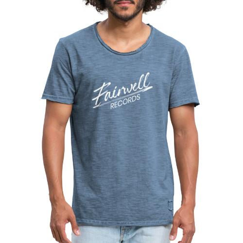 Fairwell Records - White Collection - Herre vintage T-shirt