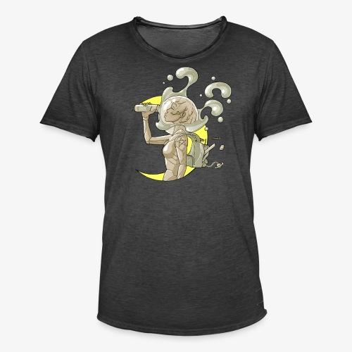 moon space drink cosmonaut girl - T-shirt vintage Homme