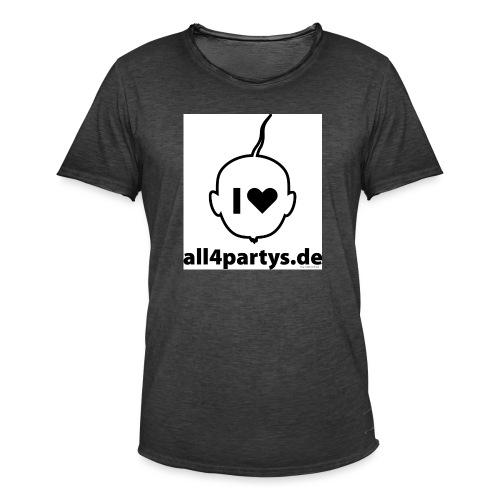 ALL4PARTYS 2019 - Männer Vintage T-Shirt