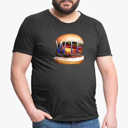 Where's my food - T-shirt vintage Homme