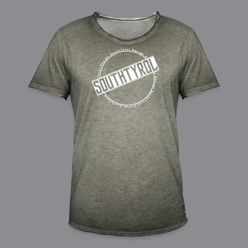 SouthTyrol Kreis weiß - Männer Vintage T-Shirt